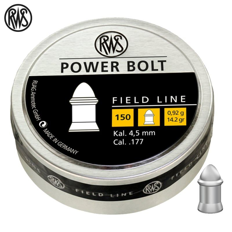 RWS diabolo Power Bolt (4,5mm / 150ks)