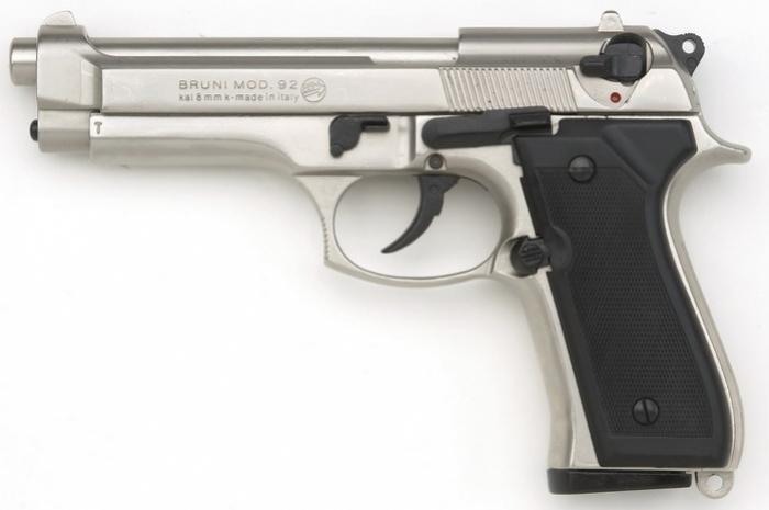 BRUNI m92 nikel kal. 9mm P.A.